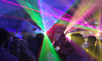 Spectacular Lighting with Wedding DJ London.